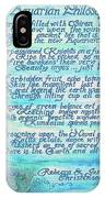 The Aquarian Philosophy IPhone Case