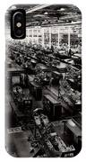 The Assembly Plant Of The Bell Aircraft Corporation In 1944 IPhone Case