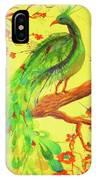 The Auspicious Peacock IPhone Case by Angelique Bowman