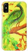 The Auspicious Peacock IPhone Case