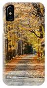 The Back Road In Autumn IPhone Case