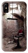 The Barber Shop Chair IPhone Case by Kristia Adams