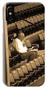 The Baseball Fan II Sepia IPhone Case