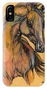 The Bay Arabian Horse 9 IPhone Case
