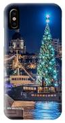 The Beautiful, Freshly Renovated Katarina Church And The Gigantic Christmas Tree In Stockholm IPhone X Case