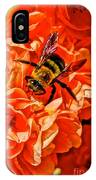 The Bee And The Flower IPhone Case