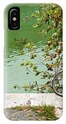 The Bicycle Is A Ubiquitous Form Of Transport In Europe And This Owner Has Literally Gone Fishing. IPhone Case