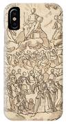 The Blessed In Paradise With The Virgin And St. John The Baptist Before God IPhone Case