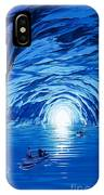 The Blue Grotto In Capri By Mcbride Angus  IPhone Case