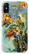 The Blue Jay Who Came To Breakfast IPhone Case