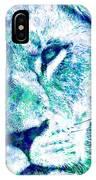 The Blue Lion IPhone Case