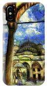 The Blue Mosque Istanbul Art IPhone Case