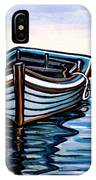 The Blue Wooden Boat IPhone Case