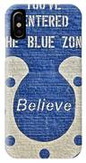 The Blue Zone IPhone Case