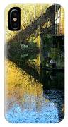 The Bridge On The River And Its Shadow. IPhone Case