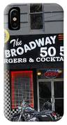 The Broadway 50 50 IPhone Case