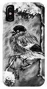 The Bullfinch Black And White IPhone Case