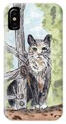 The Cat At The Fence IPhone Case