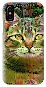 The Cat Who Loved Flowers 1 IPhone Case