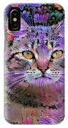 The Cat Who Loved Flowers 3 IPhone Case