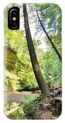 The Caves And Trail At Old Man's Cave Hocking Hills Ohio IPhone Case