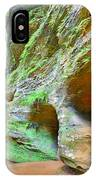 The Caves At Old Man's Gorge Trail Hocking Hills Ohio IPhone Case