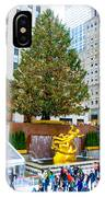 The Christmas Tree At Rockefeller Center New York City IPhone Case