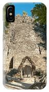 The Church At Grupo Coba At The Coba Ruins  IPhone Case