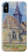 The Church At Porte-joie On The Eure IPhone Case