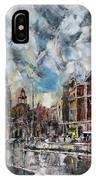 The City Touched By The Sunset IPhone Case