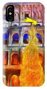 The Colosseum And Christmas  - Van Gogh Style -  - Da IPhone Case