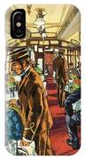 The Comfort Of The Pullman Coach Of A Victorian Passenger Train IPhone Case
