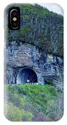 The Craggy Pinnacle Tunnel On The Blue Ridge Parkway In North Ca IPhone Case