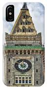 The Customs House Clock Tower Boston IPhone Case