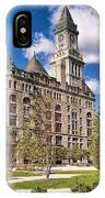 The Customs House Clock Tower IPhone Case