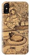 The Doll, The Kitties And The Gingerbread Boy IPhone Case