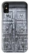 The Door At The Parthenon In Nashville Tennessee Black And White IPhone Case
