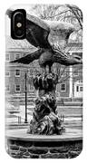 The Eagle - Widener University In Black And White IPhone Case