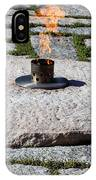 The Eternal Flame At President John F. Kennedy's Grave IPhone Case