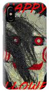 The Face Halloween Card IPhone Case