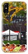 The Fall Harvest Is In Kendall Square Farmers Market Foliage IPhone Case