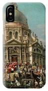 The Feast Of The Madonna Della Salute In Venice IPhone Case