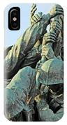 The Front Up Close -- The Iwo Jima Monument IPhone Case