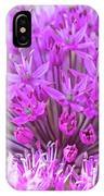 The Full Bloom Of Flowering Ornamental Onion IPhone Case