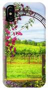 The Garden At The Winery IPhone Case
