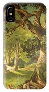 The Garden Of The Magician Klingsor, From The Parzival Cycle, Great Music Room IPhone Case