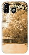 The Gate At Widener University IPhone Case