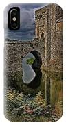 The Gatehouse And Moat At Leeds Castle IPhone Case