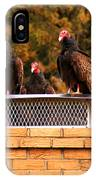 The Gathering Of Vultures IPhone Case