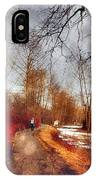 The Girl On The Path IPhone Case